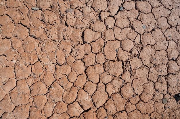 Крупный план текстуры сухой почвы
