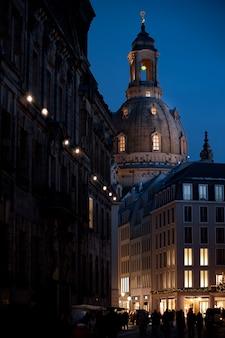 Улицы старого дрездена ночью