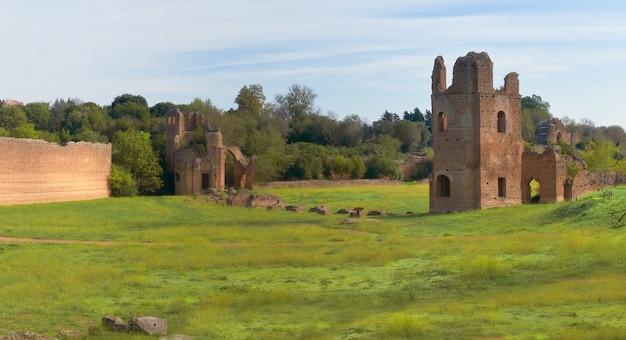 ローマの風景の古代遺跡