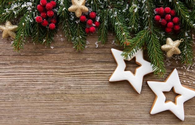 クッキーとクリスマスの装飾