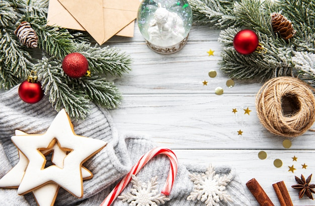 クリスマスの休日の背景