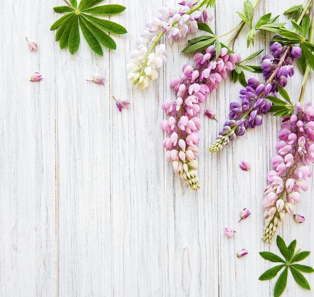 ピンクのルピナスの花