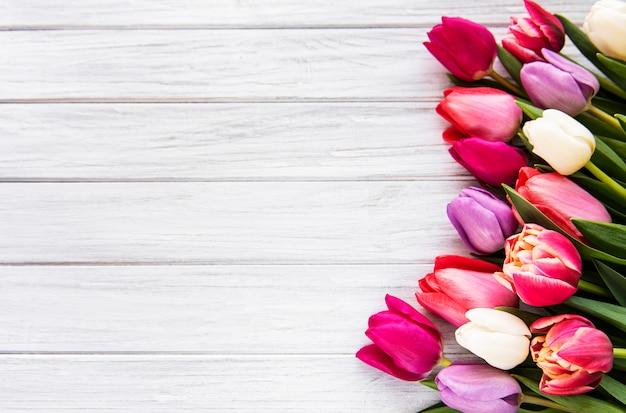 Букет красивых тюльпанов