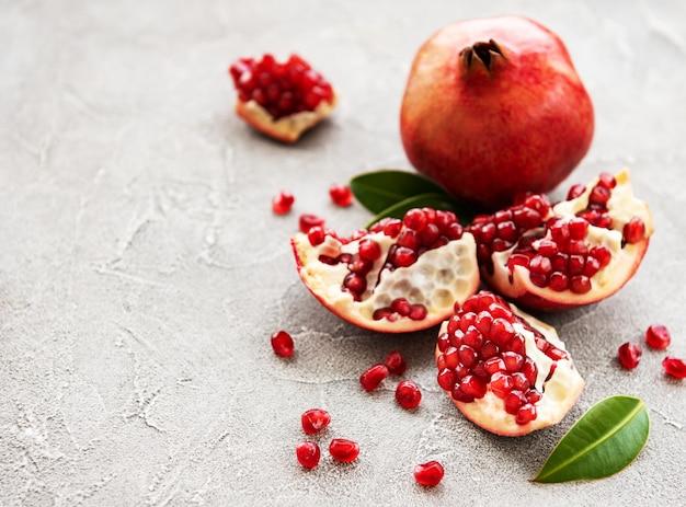 熟したザクロの果実