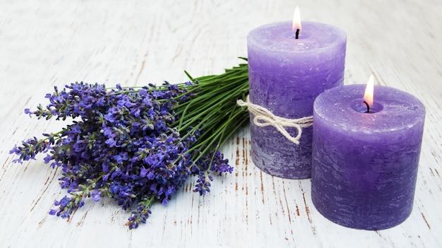 Лаванда и свечи
