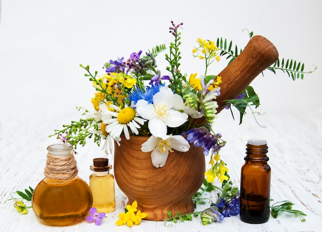 Натуральное масло с полевыми цветами