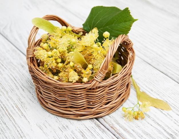 ライムの花のバスケット