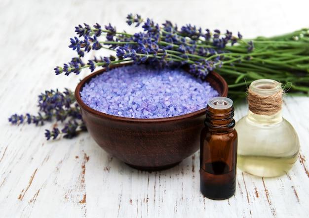 Лаванда, морская соль и масло