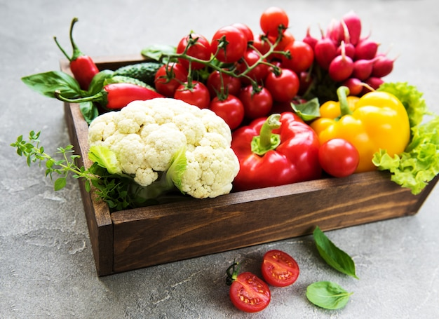 Разные сырые овощи