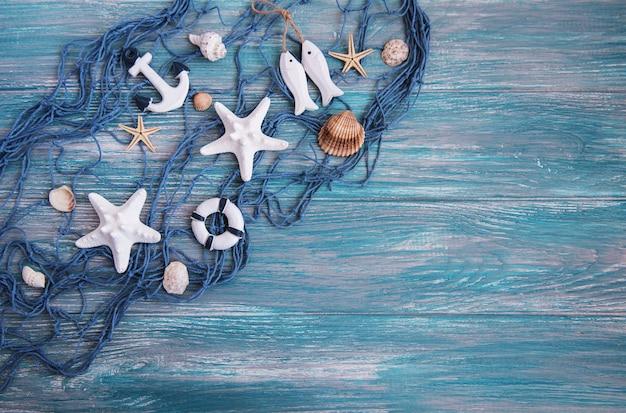 Рыболовная сеть с морскими звездами