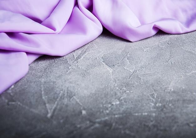 Фиолетовая шелковая ткань