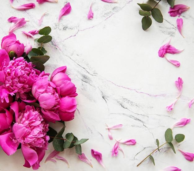 Фон с розовыми пионами