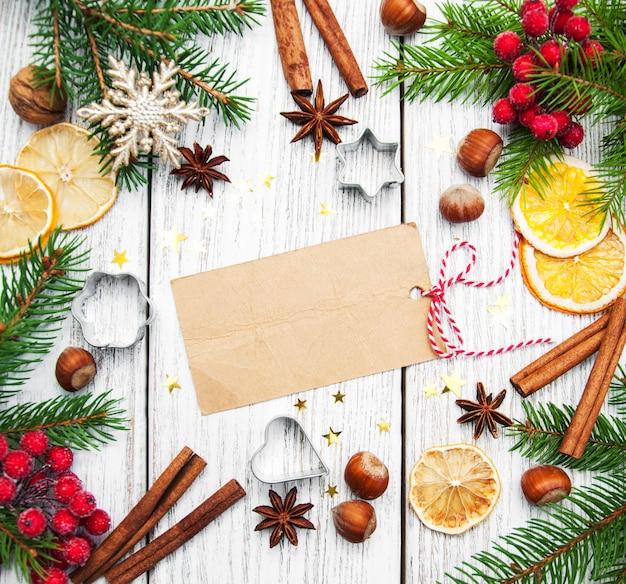 Рождественская рамка - чистый лист бумаги с отделкой
