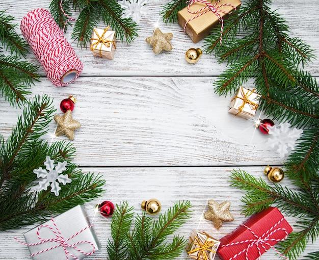 クリスマスホリデーフレームの背景