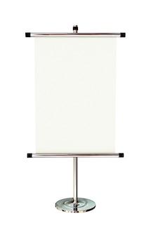 白い背景に分離された空白のバナースタンド