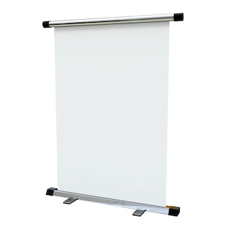 Пустой баннер стенд на белом фоне