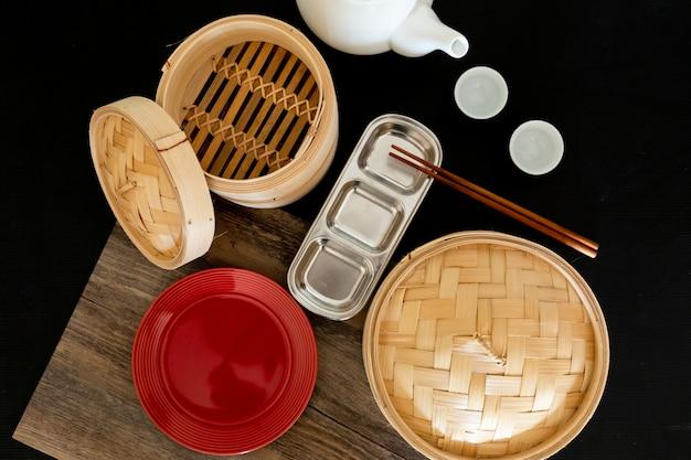 Подготовить оборудование для приготовления китайских блюд