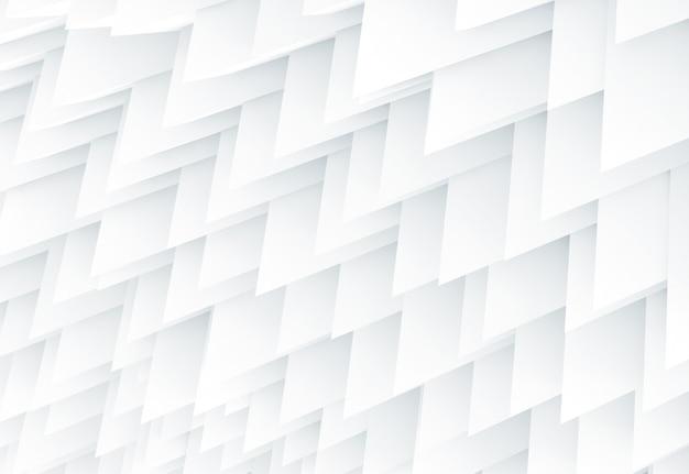 冷たい白の鋭い幾何学の抽象的な背景