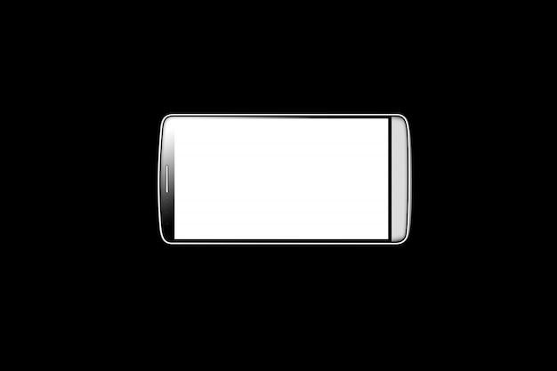 分離された空白の白いスマートフォン画面