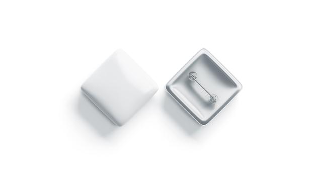 空白の白い菱形、トップビュー