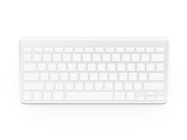 Пустая белая клавиатура