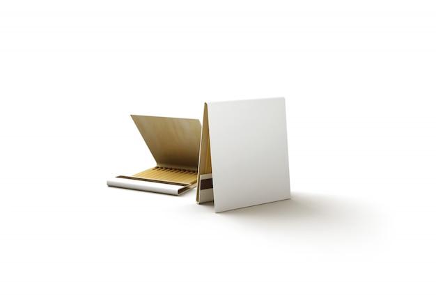 空白のプロモーションマッチブックモックアップ
