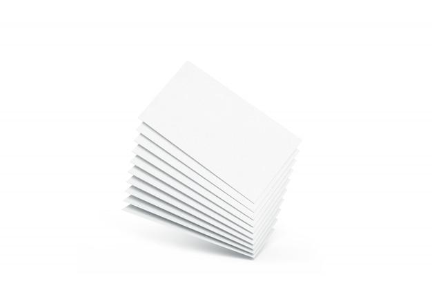 空白の白い名刺ヒープ、