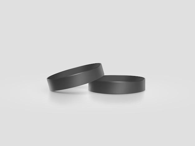 Пустой черный резиновый браслет