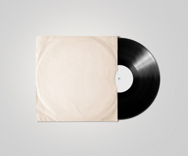 Пустой виниловый чехол для обложки альбома, изолированный