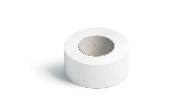 空白の白い粘着テープ、横になっている分離、
