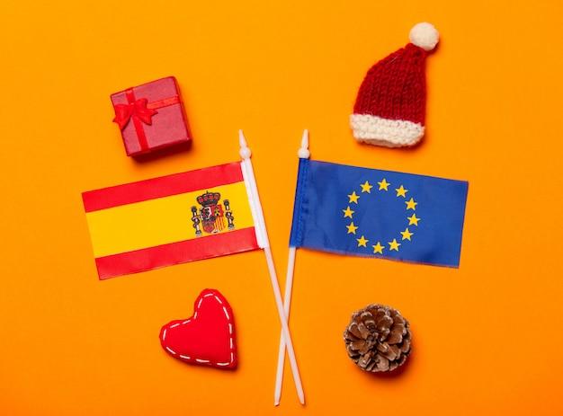 スペインと欧州連合のクリスマスプレゼントのフラグ