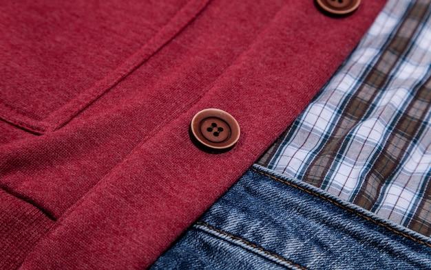 背景のジーンズポケット
