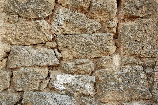 田舎の家で古いレンガの壁。バックグラウンド