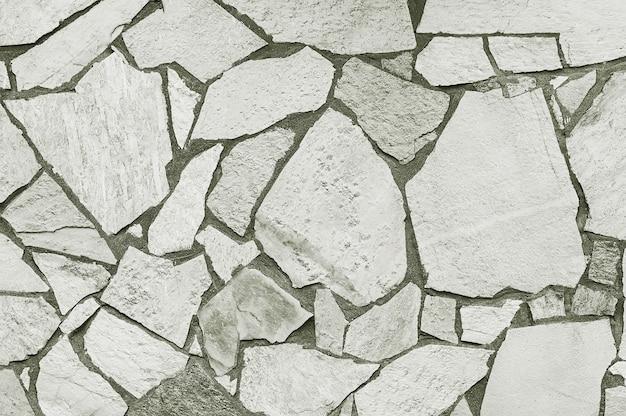 モザイクグレーの石の壁