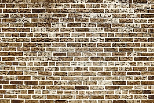 Старая коричневая кирпичная стена фоновой текстуры