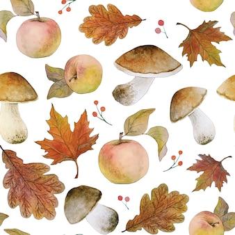 Акварельная осень бесшовный фон