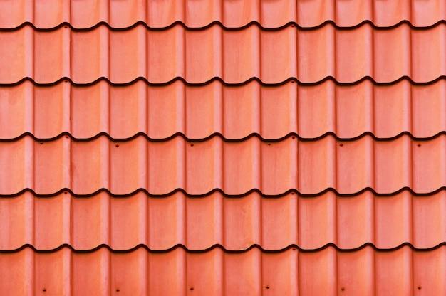 赤い屋根の質感