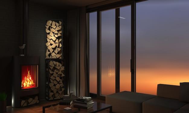スライド式の窓とドア