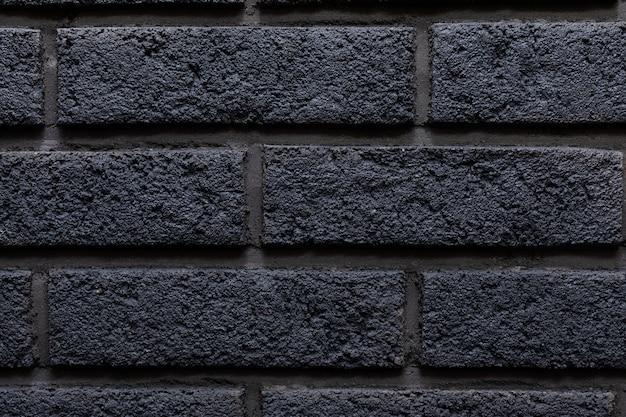 Современная черная кирпичная стена текстура фон