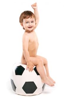 Вентилятор с футбольным мячом