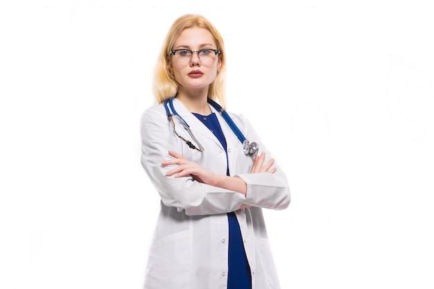 聴診器で女医