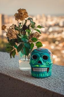 メキシコの伝統-装飾的な頭蓋骨