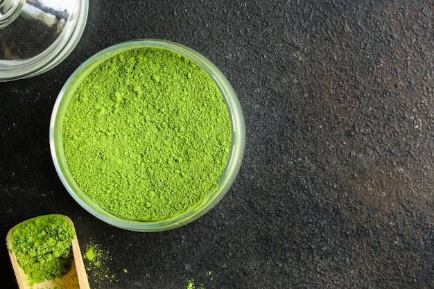 Маття - порошок зеленого чая, пищевая добавка