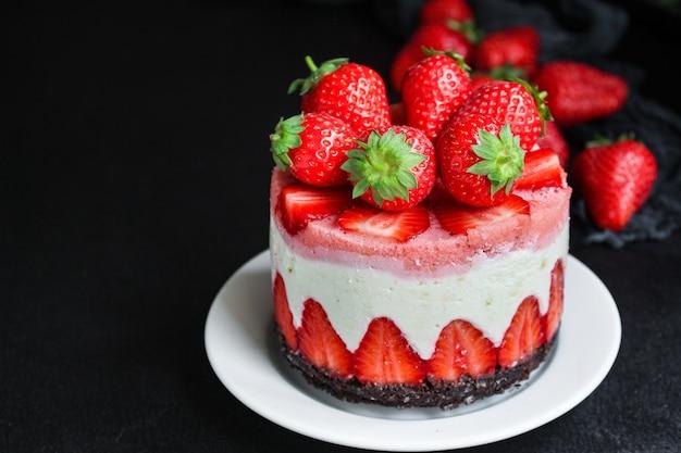 チーズケーキストロベリー甘いマスカルポーネケーキ