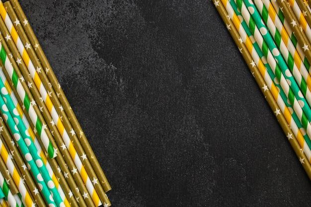 カクテルチューブ紙、明るい装飾(クラフト紙、エコ包装、木製カトラリー、環境に優しい製品、)