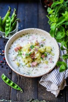 冷たいスープ野菜野菜オクロシカ食品