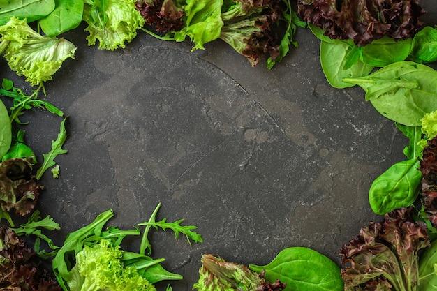 Полезный салат, салат из листьев микс (микс микро, сочная закуска)