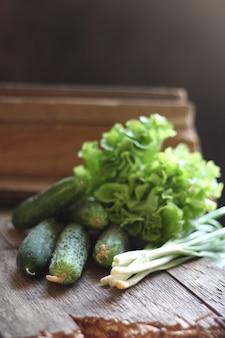 新鮮な緑の野菜