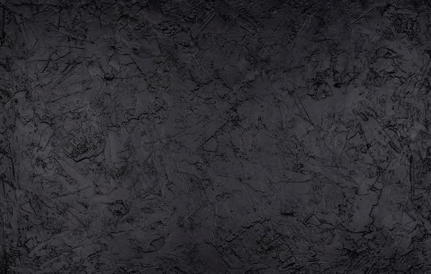 黒い石のテクスチャ、暗いスレート背景、トップビュー