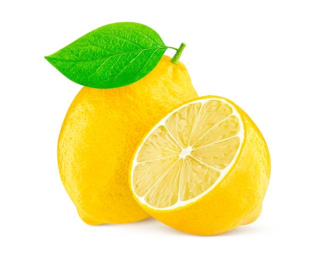 レモンの白い背景で隔離